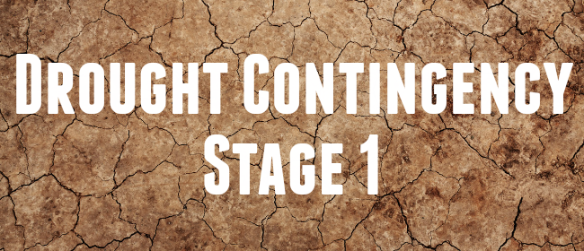 Drought Contingency-Stage 1